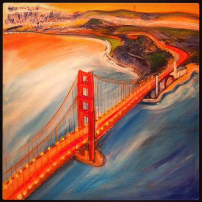 Golden Gate from Above 24x24 $600