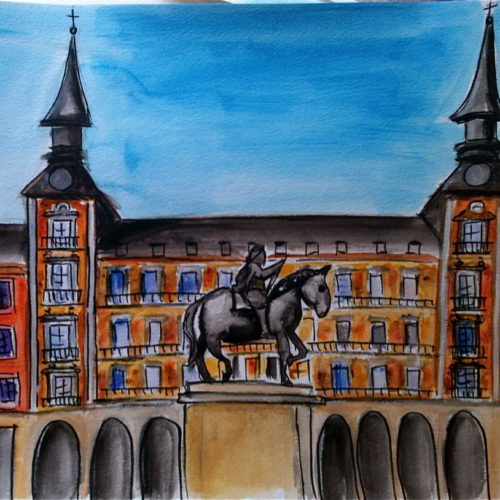 Plaza Mayor in Madrid, from book Coratina $150
