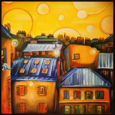 Paris Rooftops 30x30, SOLD