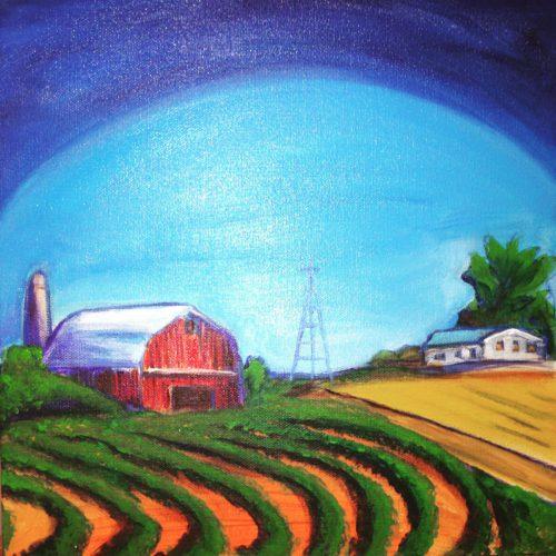 Wisconsin Farm 12x12 $375