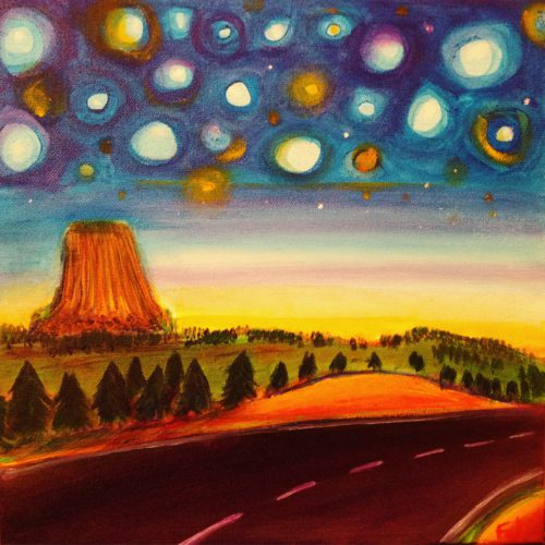 Starry Devils Tower 12x12 $375