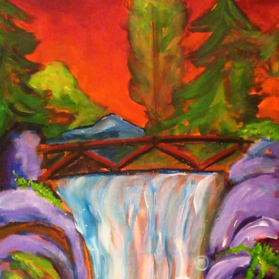 Falls at Stowe Lake 16x32 $500