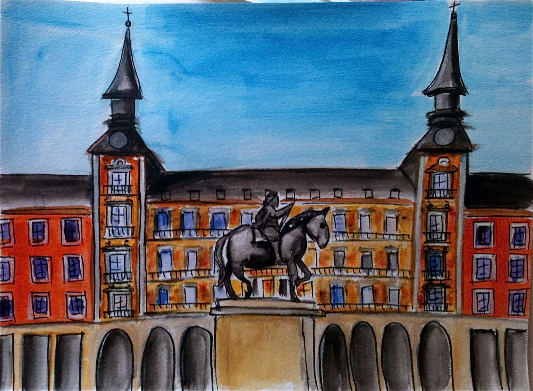 Madrid 8x10 watercolor
