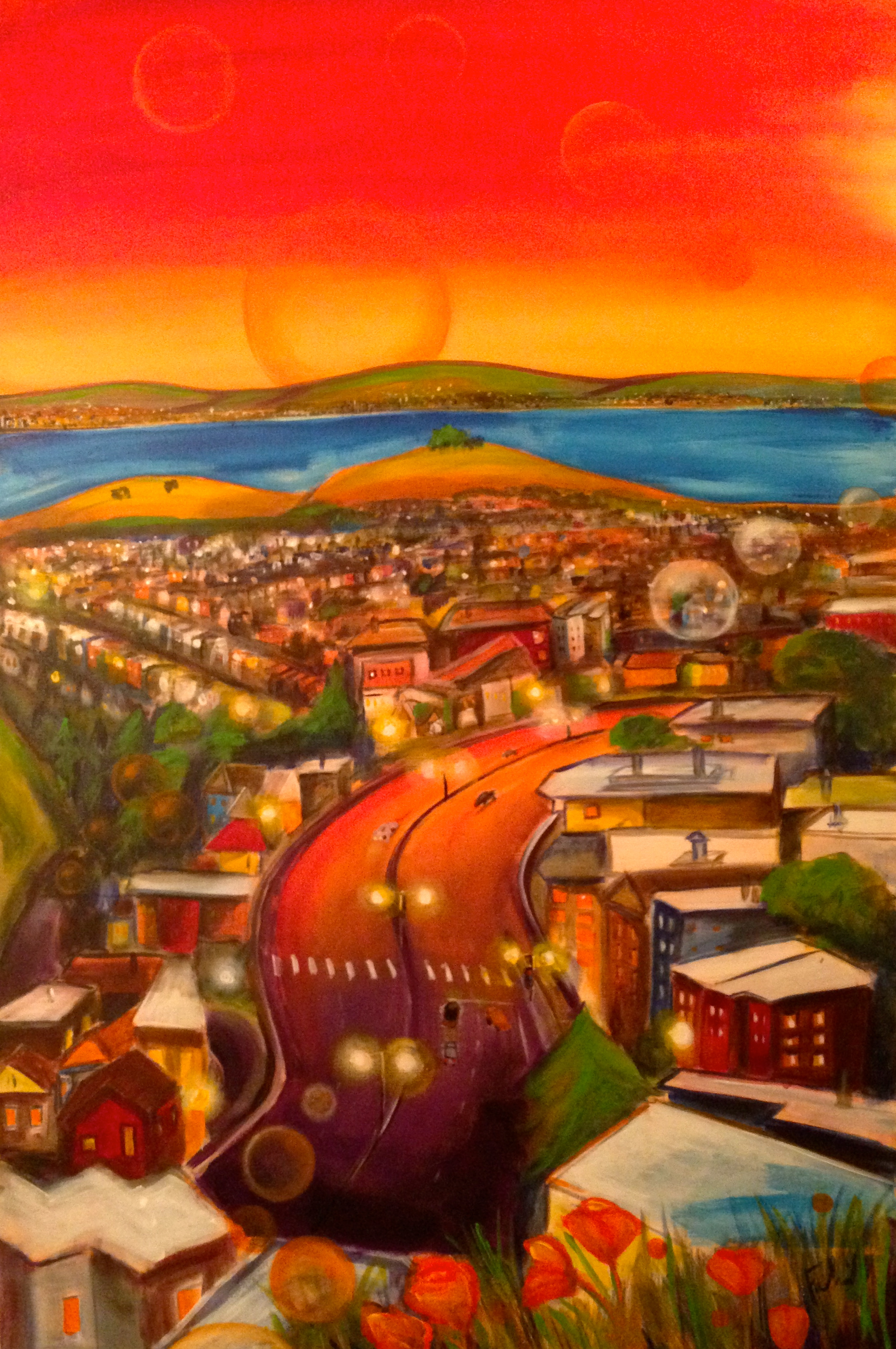 East View from Tank Hill 24x36 $1000