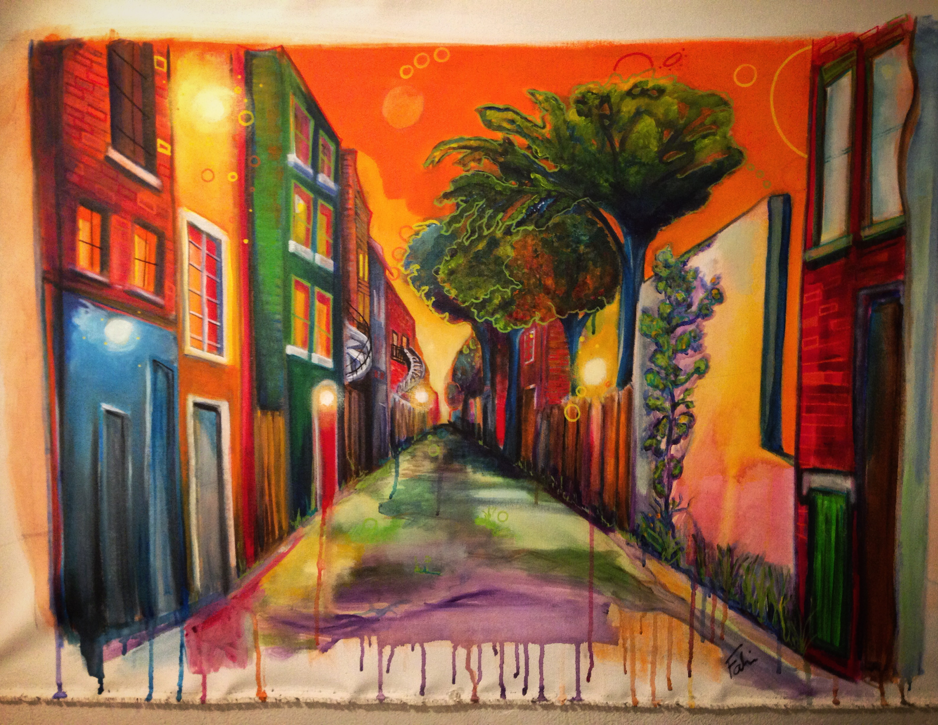 Montreal Alley 36x24